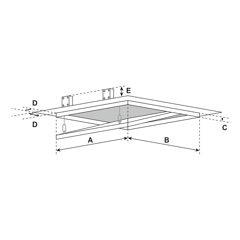 System F1 | Access Door - Measuring Diagram