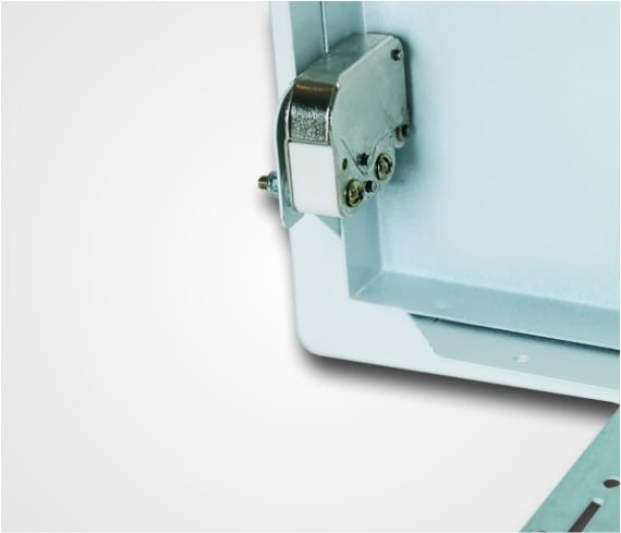 System B2 | Universal Metal Access Panel | Removable - Back View Closeup Touch Latch